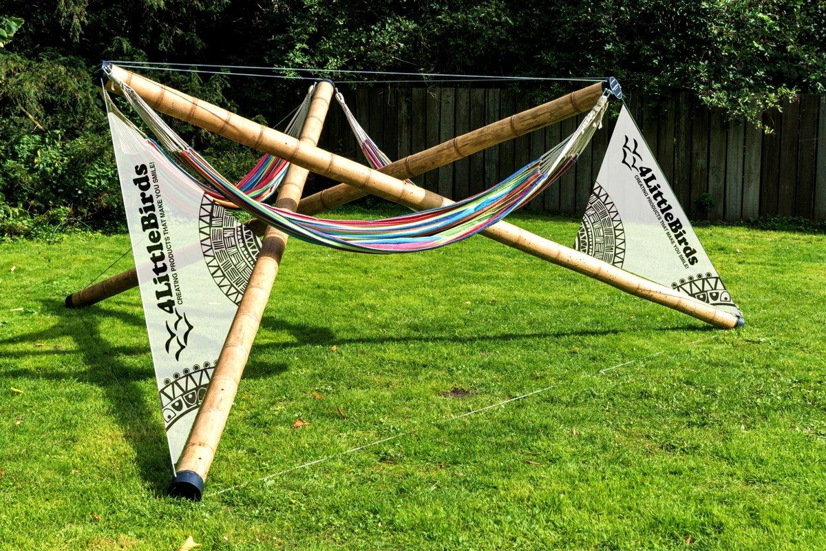 bamboo hammock stand for festivals and special events diy folding hammock stand   hammocks   pinterest   hammock stand      rh   pinterest