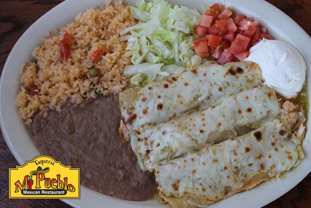 Mi Pueblo Enchiladas Verdes Mexicanfood Mexicantown Detroit Mexican Food Recipes Enchiladas Verdes Favorite Dish