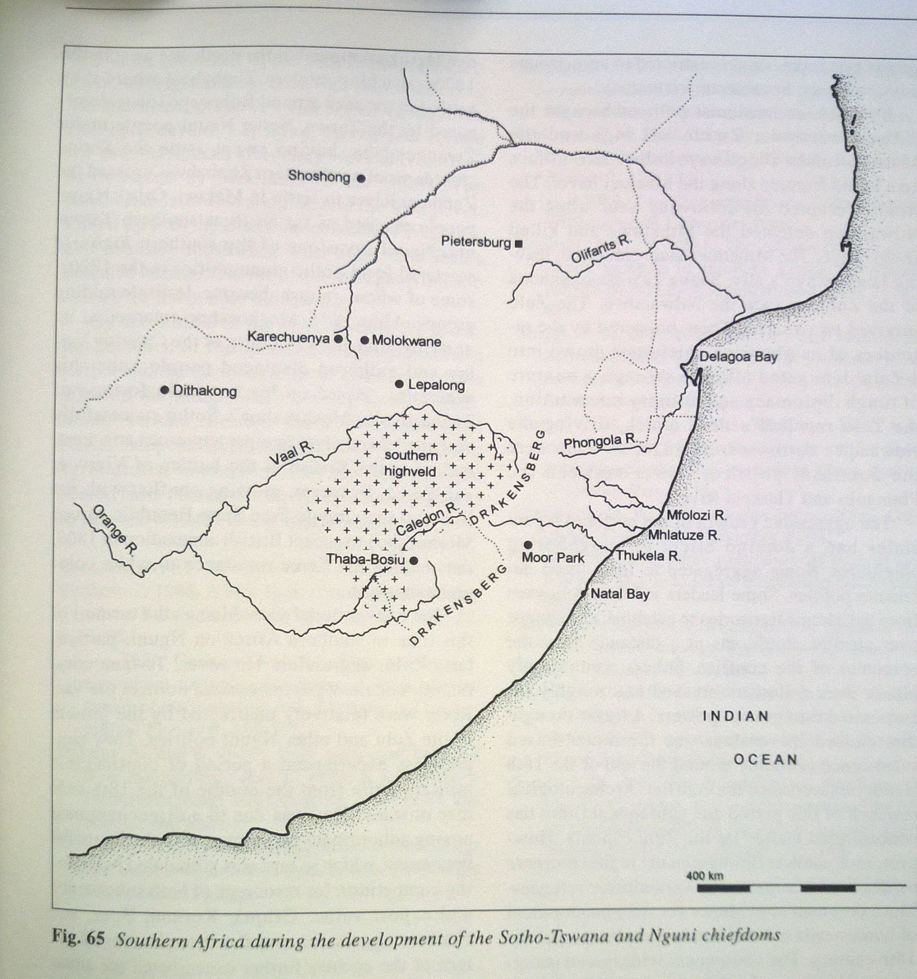 Southern Africa during the development of the Sotho Tswana and