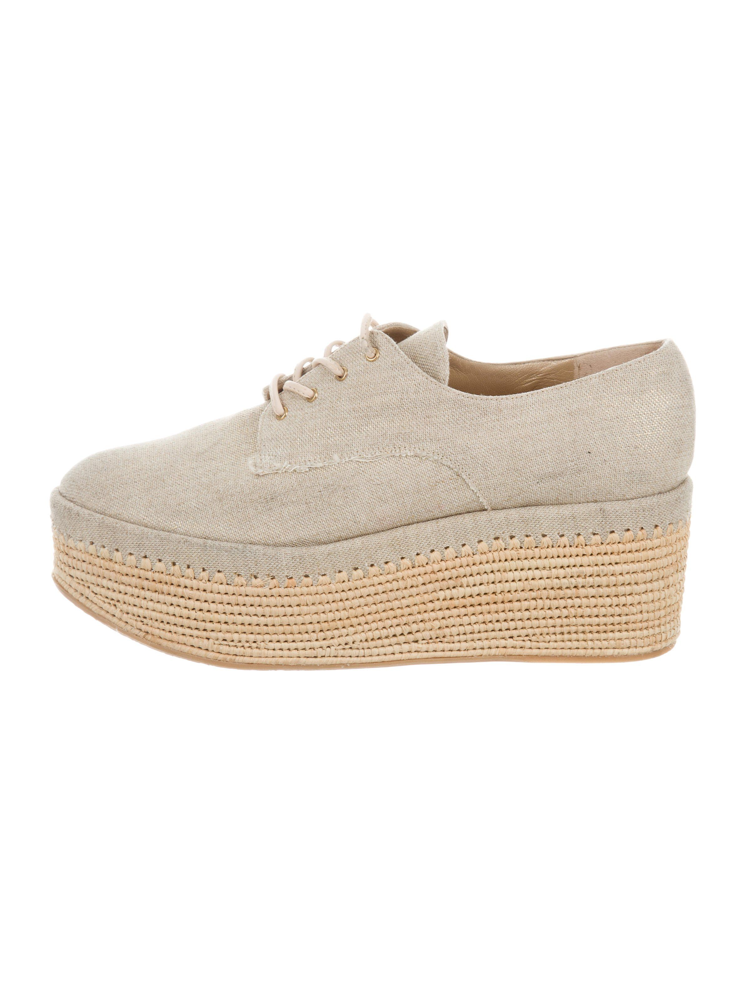 outlet locations free shipping enjoy Stuart Weitzman Canvas Platform Oxfords cheap how much clearance for cheap free shipping sneakernews AymbEhYrdG