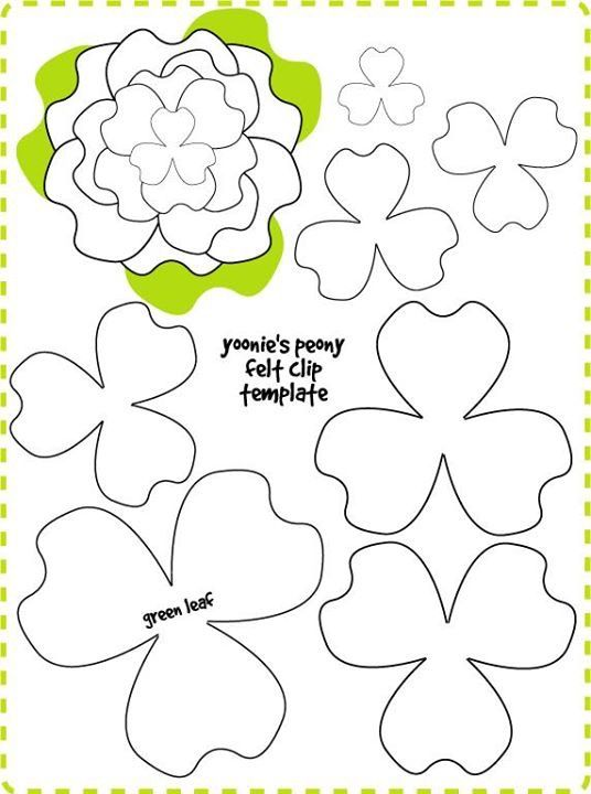 trifoglio Flowers Felt flowers patterns, Flower template, Paper