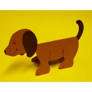Hund basteln   Eine einfache und tolle Bastelidee, #Tiere ...