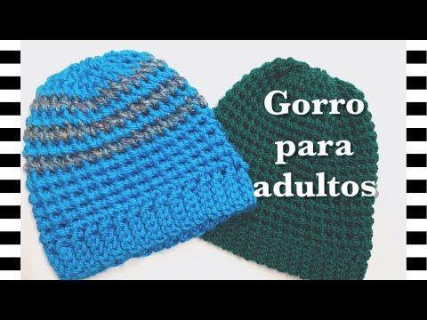 Gorro a Crochet ( Ganchillo ) English Subtitles ( Subtitulado ...