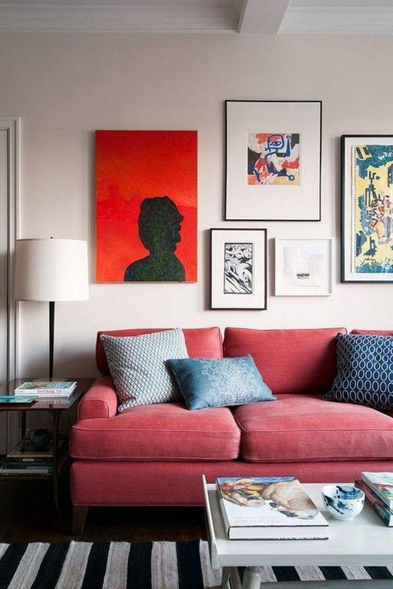 20 Cozy Modern Red Sofa Design Ideas For Living Room Page 17 Of 41 Red Couch Living Room Red Sofa Living Room Red Sofa Living