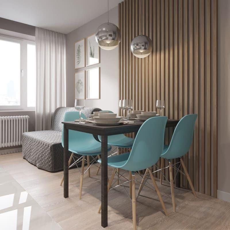 Кухня-гостиная в небольшой квартире в Москве (35 кв.м ...