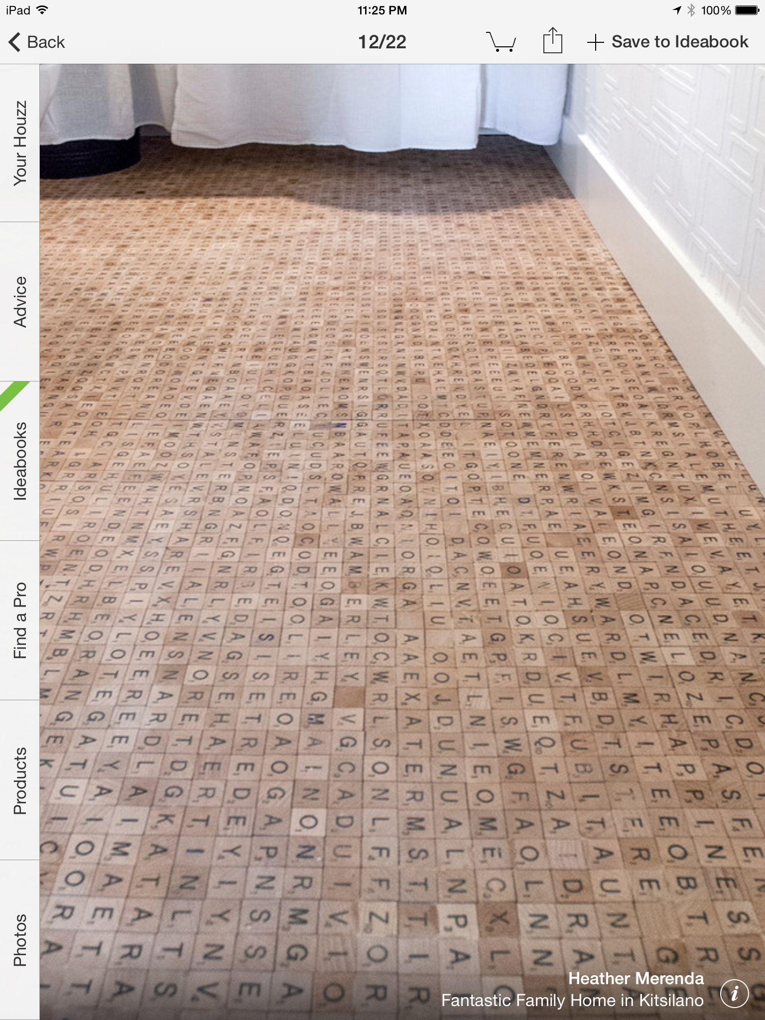 Scrabble Floor In A Powder Room Httphouzzphotos12560956