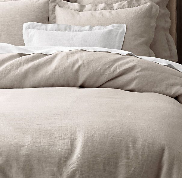 Vintage Washed Belgian Linen Bedding Collection In 2020 Belgian