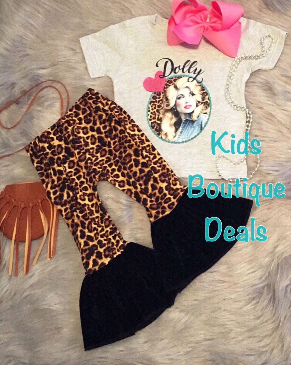 Youth Leopard bell bottoms!! KIDS BOUTIQUE DEALS