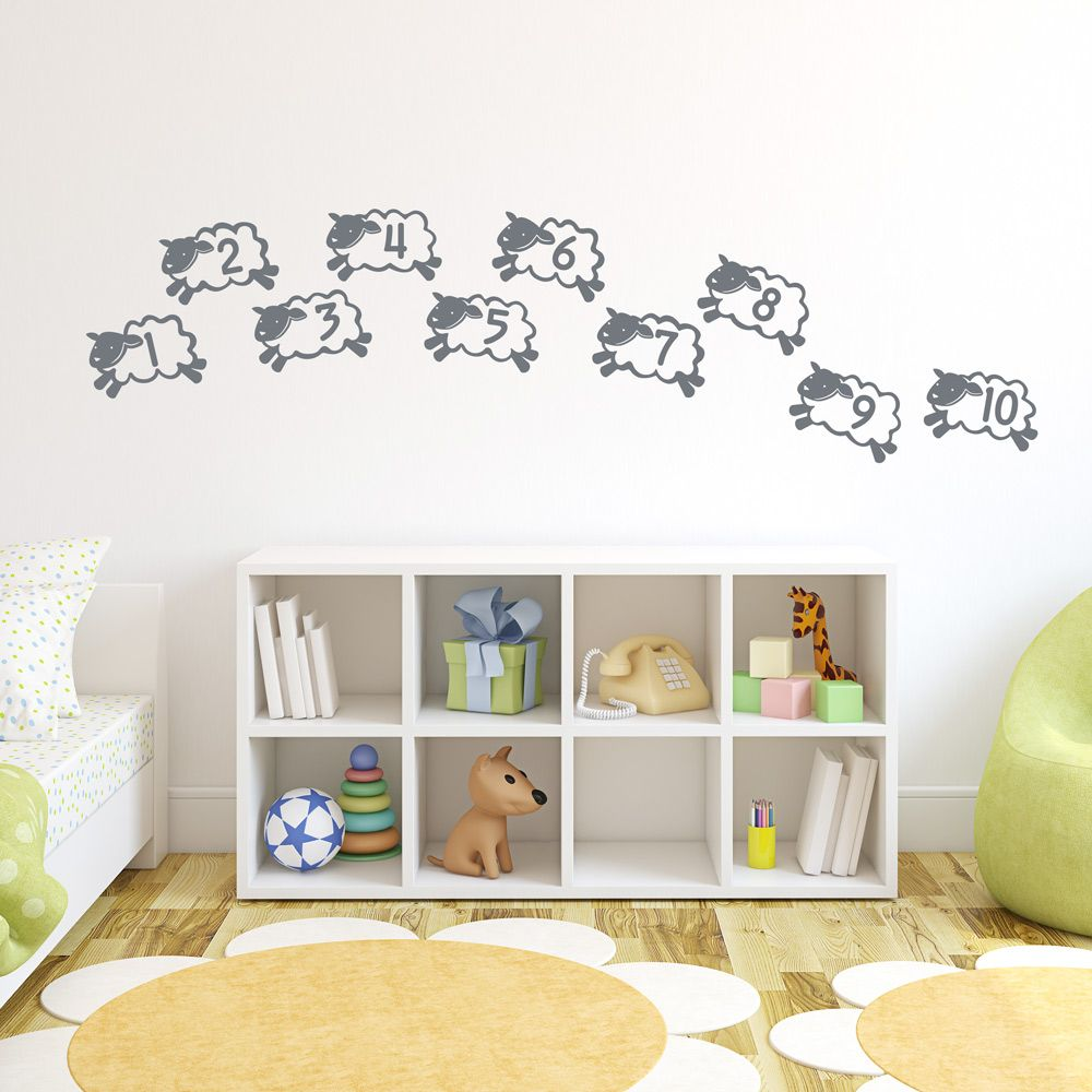 Counting Sheep Wall Decal | Nursery | Pinterest | Wall art ...