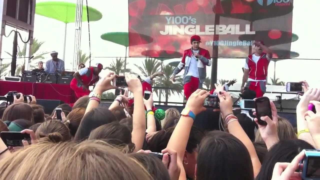 Austin Mahone at Y100 Jingle Ball Village 12/08/12
