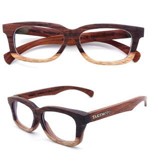 takemoto hand made rosewood glasses pretty cool - Wood Frame Glasses