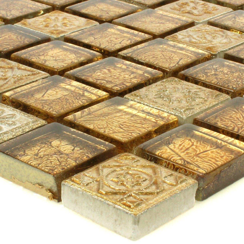 Mosaikfliesen Glas Naturstein Coloniale Gold   eBay   Mosaiksteine ...