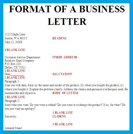 Template Business Letters Formal Letter Block Format Spacing Best