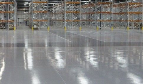 Resin Flooring In A Warehouse