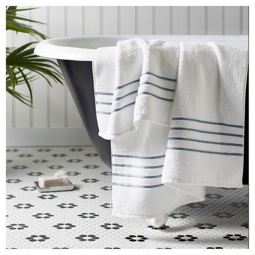 Luxury Stripe Accent Bath Towels Fieldcrest Target A - Fieldcrest bath towels for small bathroom ideas
