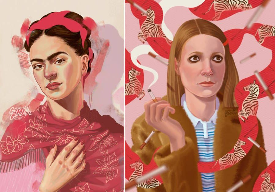 Colorful Illustrated Portraits The Graphic Designer German Gonzalez Creates Handmade Or Digital Discover A Selection Of Colombian