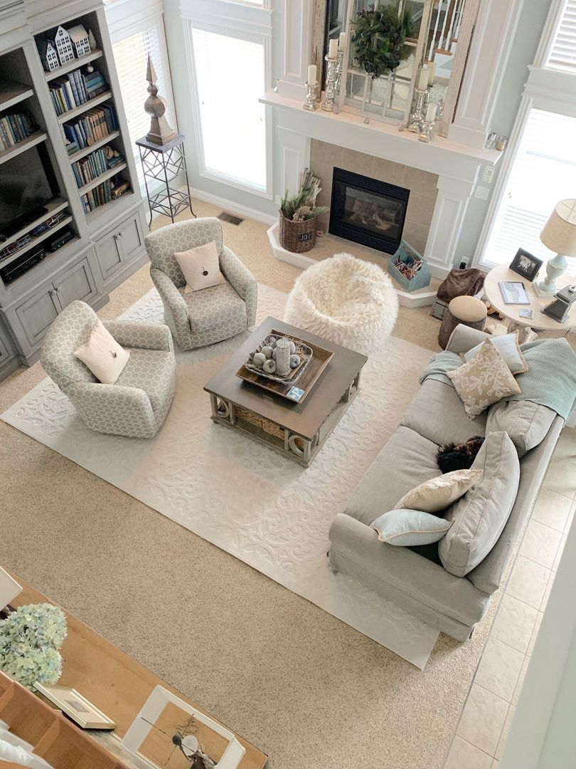 Update your family room with a large area rug #justpostedblog