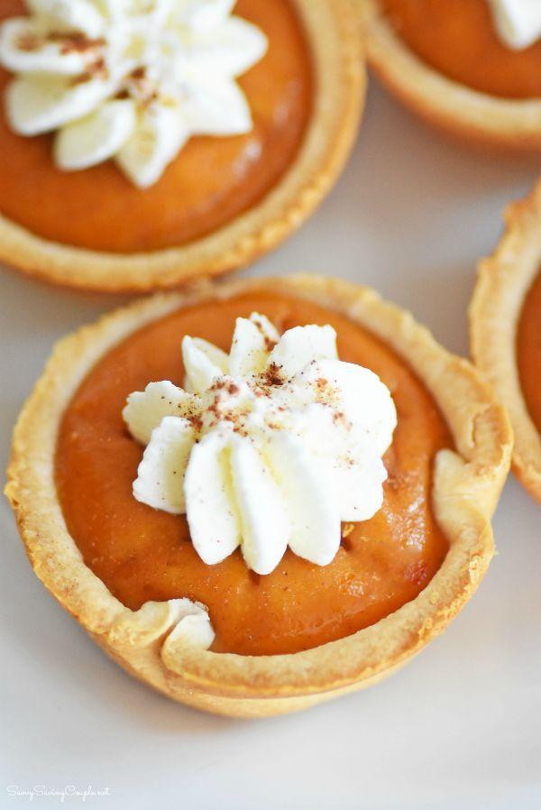 Mini Pumpkin Pies Made in a Muffin Tin