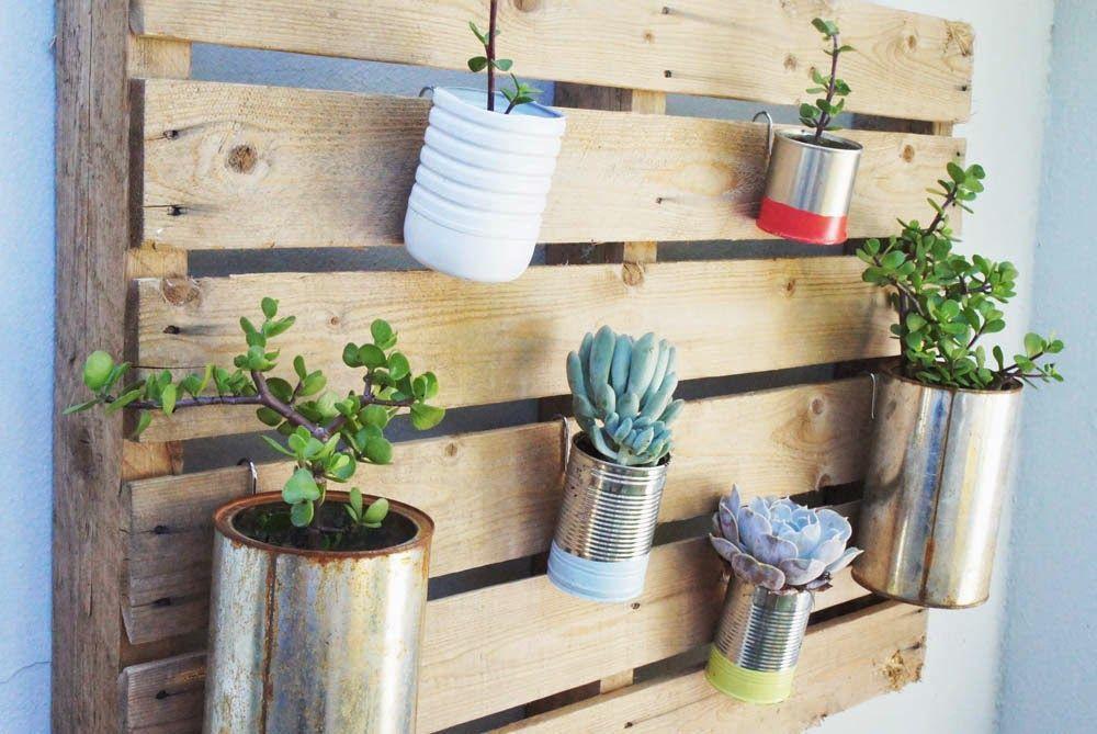 2 Tutoriales para jardines Verticales con Palets | Ser ecológico es facilisimo.com