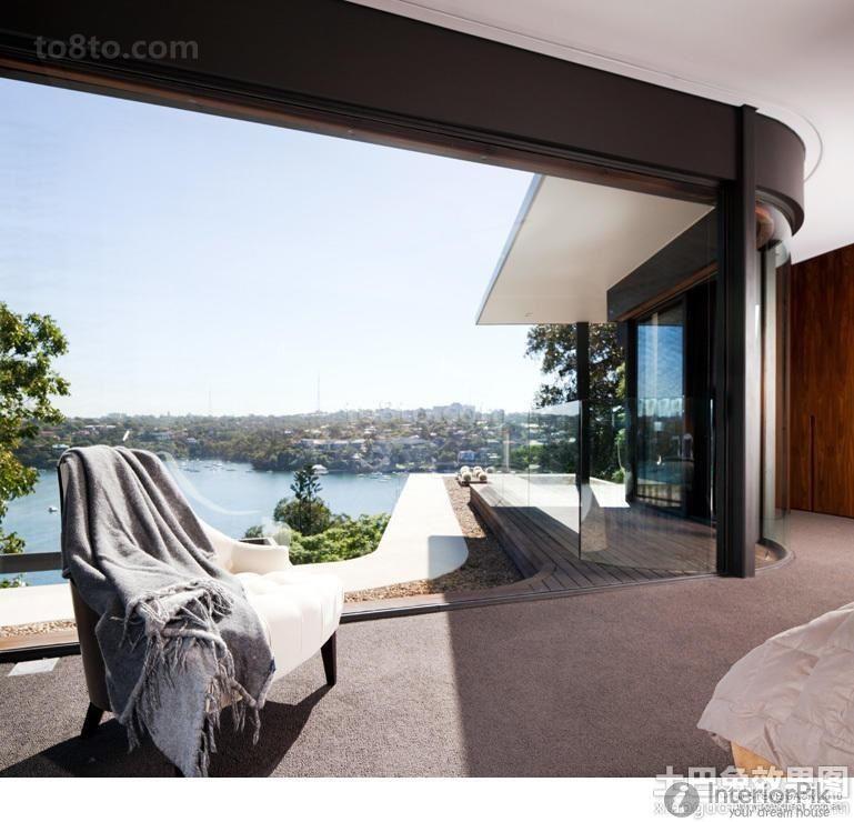 Simple Indoor balcony decoration design effect chart appreciation - kleines schlafzimmer fensterfront