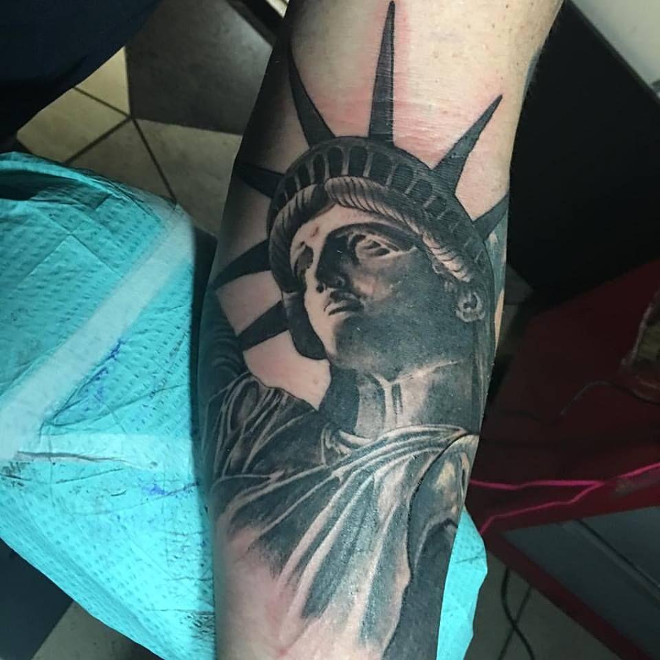 Lady Liberty tattoo by Jared Preslar in progress! www ...