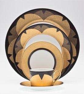 Royal Limoges porcelain tableware Kinzakura black gold plate tea cup saucer harlequin london & Royal Limoges porcelain tableware Kinzakura black gold plate tea cup ...