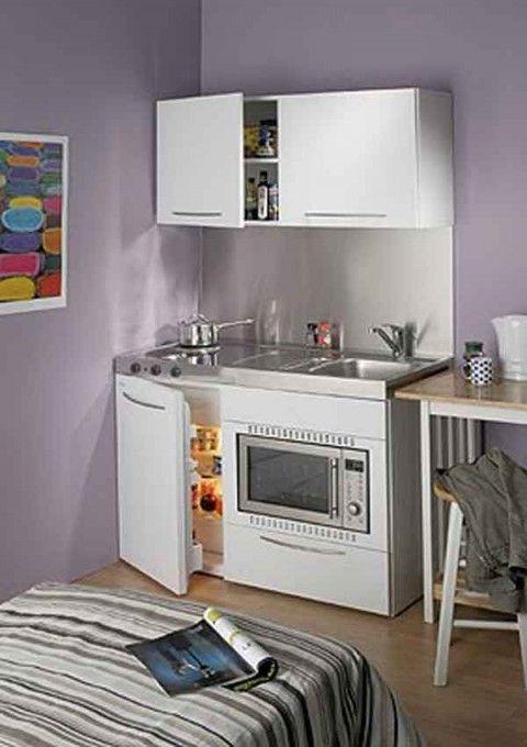 Cocinas pequeñas para espacios reducidos | Cocinas | Mini kitchen ...