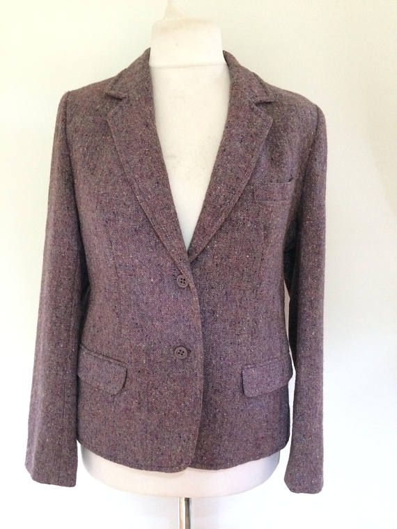 fcdbc4cdadc7 Vintage 80s tweed jacket by Jimmy Hourihan of Dublin lavender ...