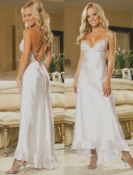 wedding night lingerie, Charmeuse Wedding Gown, Lingerie Ideas for ...