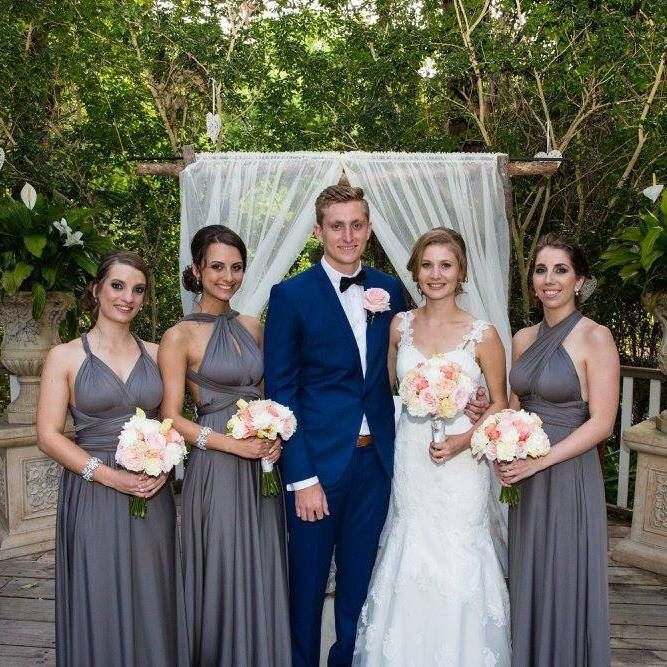 Navy Suits And Grey Bridesmaid Dresses Bridesmaid Grey Bridesmaids Grey Bridesmaid Dresses