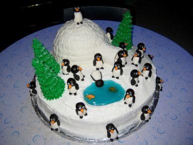 penguin cakes