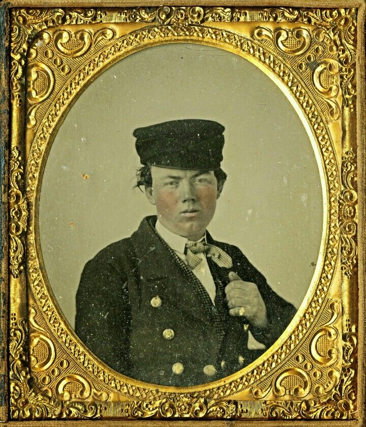 Pre-Civil War cased tintype of Col. William Shy, 20th Tennessee Infantry, CSA. Shy was killed at the Battle of Nashville on December 16, 1864, defending a hilltop position that now bears his name. Looking Back: The Civil War in Tennessee