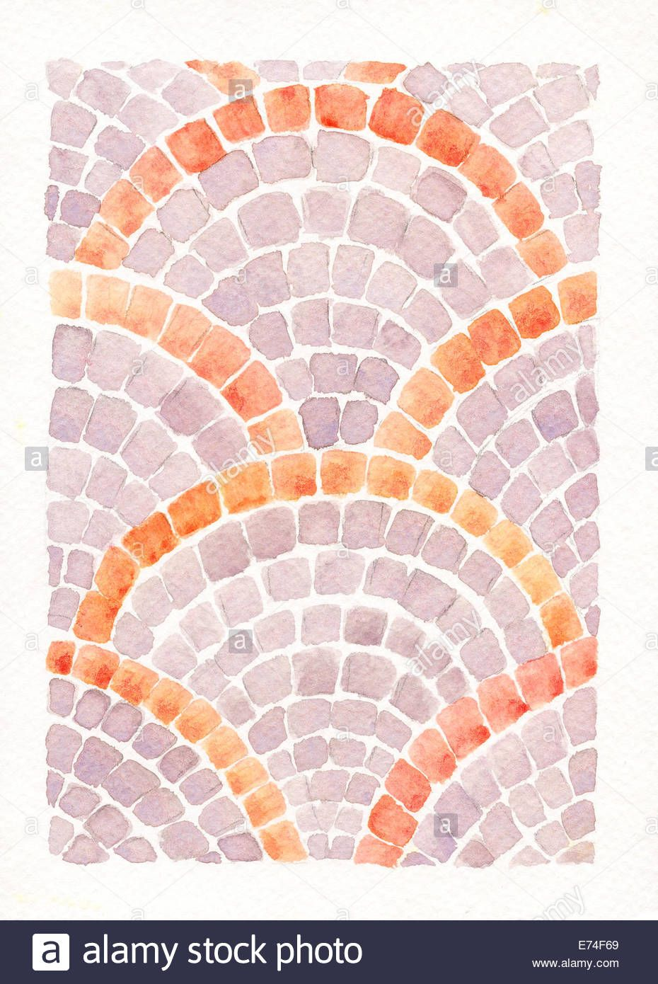 Image result for how to do a mosaic watercolor painting