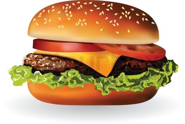 Vector Of Hamburger With Meat Lettuce Cheese And Tomato Food Png Food Clipart Food Clips