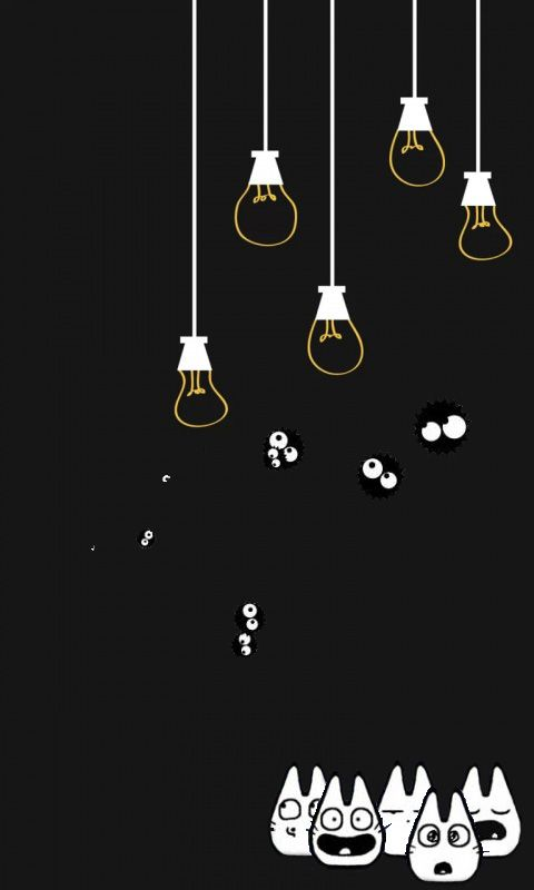 Light Totoro Lu520 Wallpaper by MinhTram93 かわいいポスター