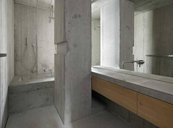 Badezimmer fenster ~ Ode an den ortbeton: wohnhaus in basel schalung innenaufnahmen