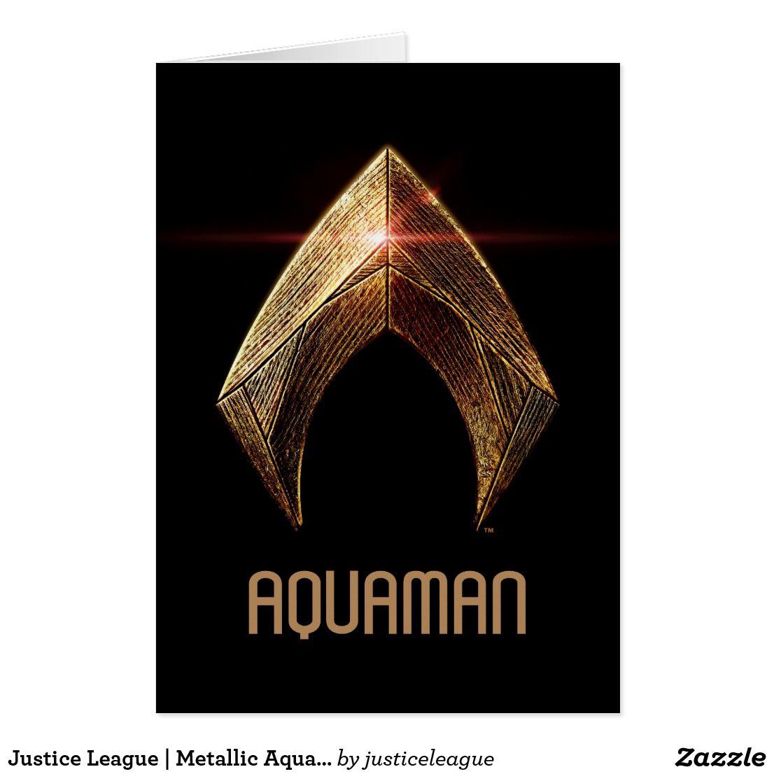 Justice league metallic aquaman symbol