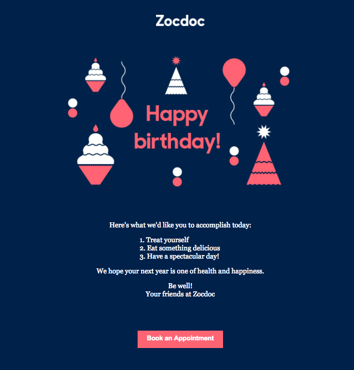 7 design tips for birthday emails birthday email email. Black Bedroom Furniture Sets. Home Design Ideas