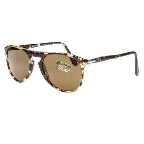 664847caebe Persol Men s PO9714S Plastic Pilot Polarized Sunglasses