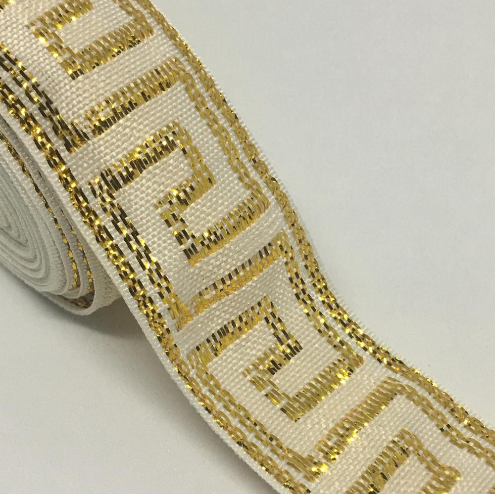 Jacquard Ribbon Greek Key Trim Gold Trim Gold Ribbon Etsy Greek Key Pattern Fabric Trim Greek Key