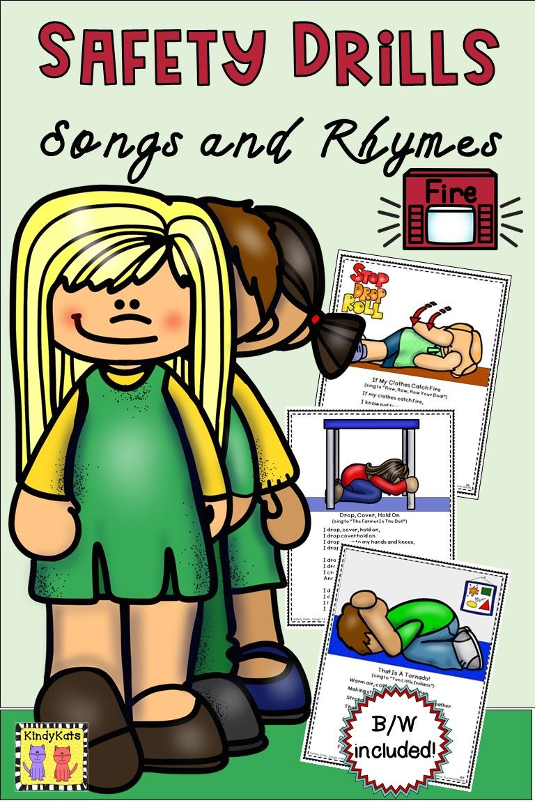 Safety Drills Songs and Rhymes in 2020 Songs, Rhymes, Drill