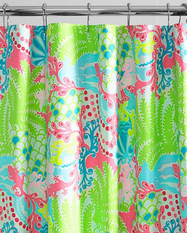 Garnet Hill Lilly Pulitzer Sister Florals Shower Curtain