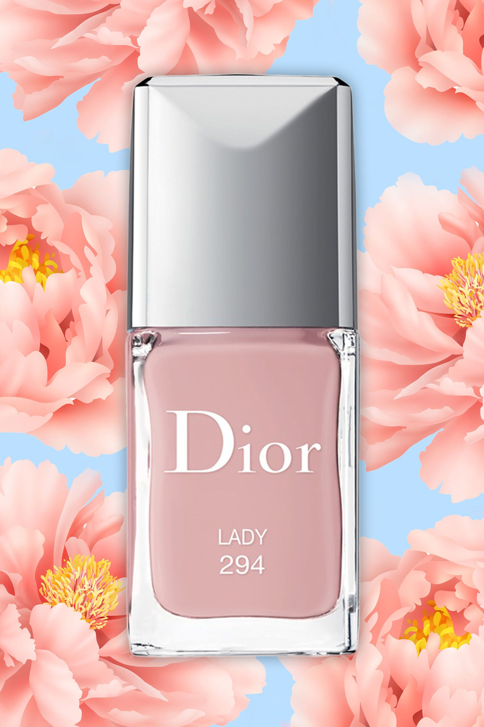 """A pastel, milky pink is super feminine and is the epitome of spring — it's the exact opposite of the dark burgundy you've been wearing all winer. Try Dior Vernis Spring 2015 Limited Edition Nail Lacquer in """"Lady,"""" $28   - Cosmopolitan.com"""
