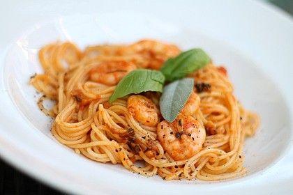 Spaghetti aglio olio e scampi von fruechtemuesli | Chefkoch