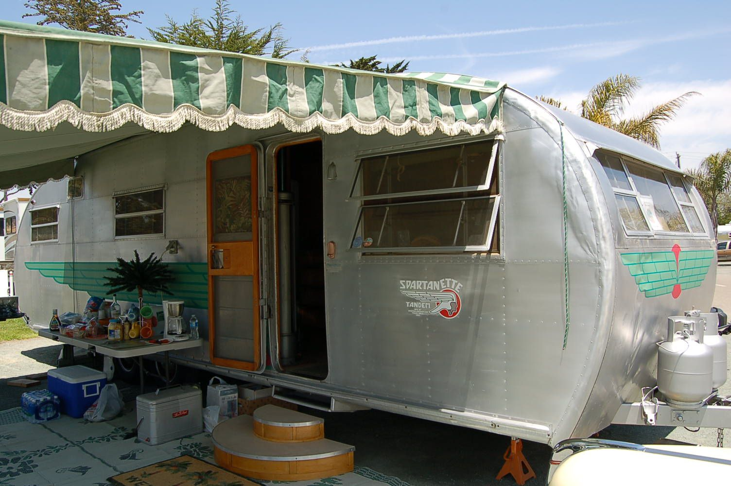 Vintage Trailer Awnings From Oldtrailer Com Camper Awning Lights Vintage Trailers Trailer Awning