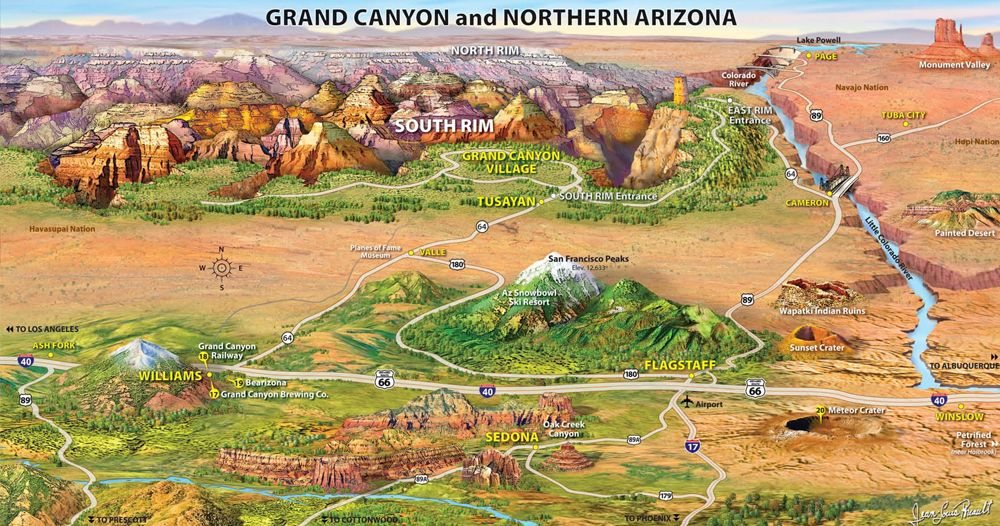 west usa map grand canyon Google Search US Vacation Ideas