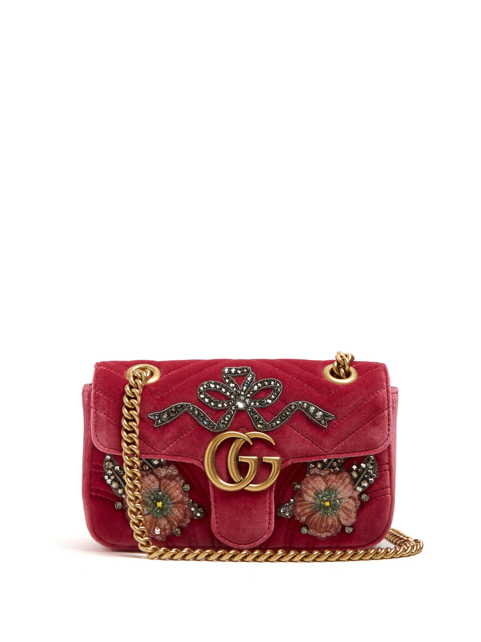 GG Marmont mini quilted-velvet cross-body bag   Gucci    MATCHESFASHION.COM UK   260f6598630