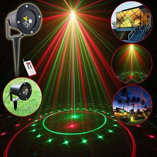 Suny Rg Outdoor Laser Rf Remote 20 Patterns Lighting Red Green House Garden Color Landscape Yard Poo Christmas Projector Colorful Garden