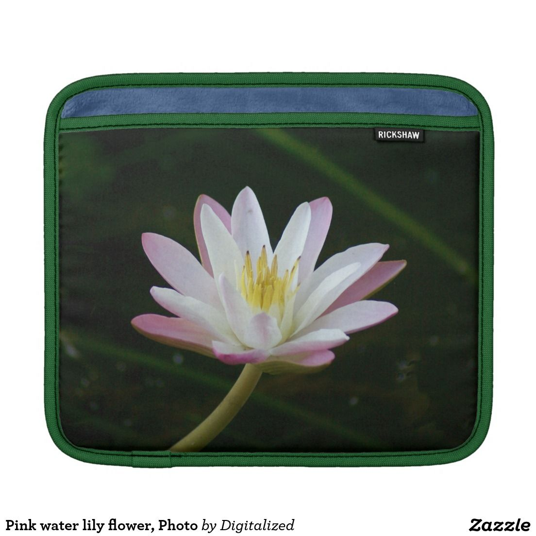 Pink Water Lily Flower Photo Ipad Sleeve Photography Nature