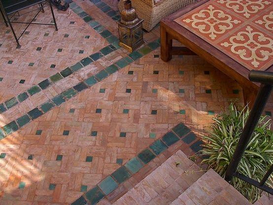 Baldosas barro zellige zelart detalles en barro cocido pisos muros etc pinterest - Baldosas exterior baratas ...